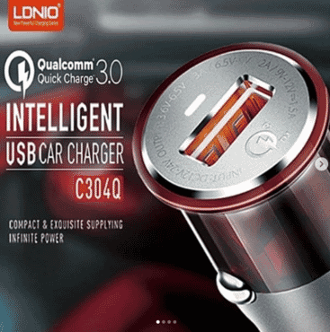 LDNIO C304Q Qualcomm 3.0 Quick Charge Intelligent USB Car Charge with Android USB