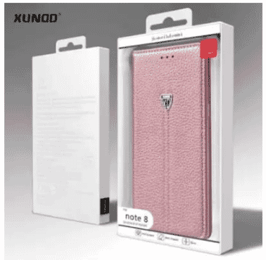Xundd Leather Case With Kickstand & Card Holder For Samsung Galaxy Note 8 - Rose Gold