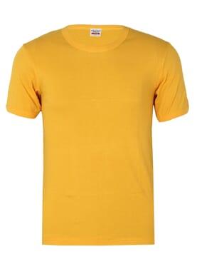 Plain Yellow O-neck Polo T-shirt