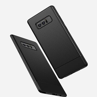 Samsung NOTE 8 Case Carbon Fibre Back Cover Case-Black