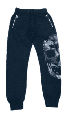 Designed Zip-up Joggers